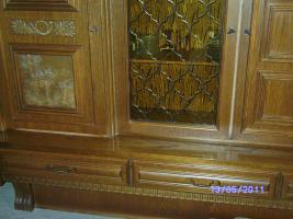 Foto 5 Wohnzimmerschrank Eiche-massiv auch für Jagdzimmer zu verkaufen!!!