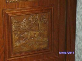 Foto 10 Wohnzimmerschrank Eiche-massiv auch für Jagdzimmer zu verkaufen!!!