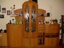 Wohnzimmerschrank mit Glas Vitrine Buche Wohnwand Schrankwand