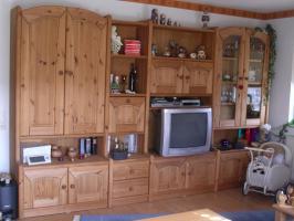 Wohnzimmerschrank Kiefer, massiv