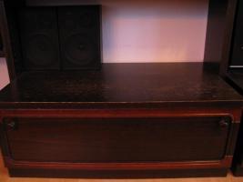Foto 4 Wohnzimmerschrank dunkel braun-rot