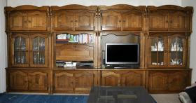 Wohnzimmerschrank - 4 Elemente Eiche rustikal