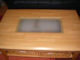 Foto 3 Wohnzimmerschrank + Couchtisch Buche Massiv