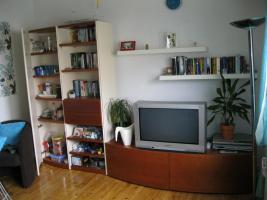 Foto 2 Wohnzimmerschrankwand beige-braun Massiv