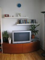 Foto 3 Wohnzimmerschrankwand beige-braun Massiv