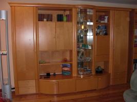 Foto 2 Wohnzimmerwand  Ahorn hell Echtholz GWINNER Wohndesign