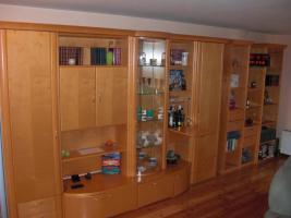 Foto 3 Wohnzimmerwand  Ahorn hell Echtholz GWINNER Wohndesign