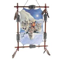 Wunderschöne Traumfänger, Deko Bilder, Indianer, Wolf