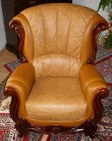 Foto 2 Wundersch�ne, gem�tliche Couchgarnitur Leder/Holz