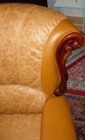 Foto 3 Wundersch�ne, gem�tliche Couchgarnitur Leder/Holz