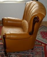 Foto 4 Wundersch�ne, gem�tliche Couchgarnitur Leder/Holz