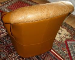 Foto 5 Wundersch�ne, gem�tliche Couchgarnitur Leder/Holz