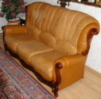 Foto 8 Wundersch�ne, gem�tliche Couchgarnitur Leder/Holz