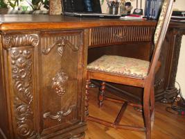 Foto 2 Wunderschöner alter Schreibtisch (1920-1930)