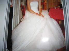 Foto 3 Wundersch�nes Brautkleid weiss Gr. 36 mit langer Schleppe