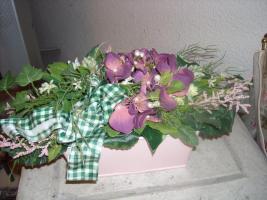 Foto 2 Wunderschönes Seidenblumengesteck