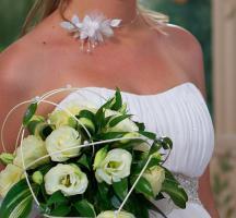 Foto 4 Wunderschönes Weises Hochzeitskleid