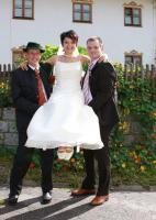 Wunderschönes zweiteiliges Brautkleid Gr. 38 - Komplettpaket