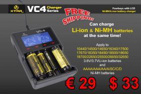 XTAR VC4 LED Akku-Lader Li-ion NiMH USB nur € 26 frei Haus