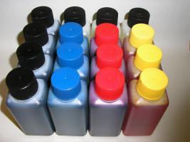 XXL - Sparpack 1300ml Nachfüll-Tinte + 300ml Düsenreiniger  Inhalt: 4 Spritzen, 400ml Schwarz, 300ml Cyan, 300ml Magenta, 300ml Yellow, 300ml Düsenreiniger