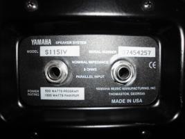 Foto 5 YAMAHA S115IV passive Fullrange Lautsprecher Boxen 2 Stück