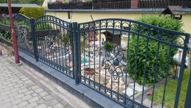 Zaun Tor Metalltreppen aus Polen, Gelander