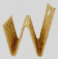 Zeitungsständer aus Wasserhyazinthe, wie eine Welle