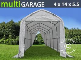 Zelthalle multiGarage 4x14x4,5x5,5m, Weiß