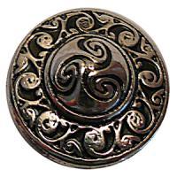Zierniete CELTIC CIRCLE 25 x 25 mm Silber-Optik