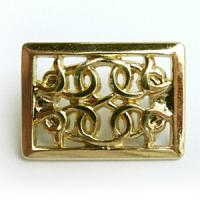 Zierniete CELTIC RECTANGLE 35 x 25 mm Gold-Optik