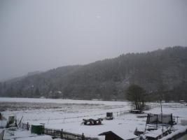 Winter Blick zum Westerwald