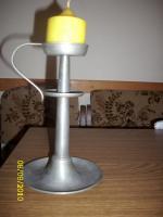 Zinnkerzenständer (Kerzenständer Zinn) Höhe ca. 20 cm