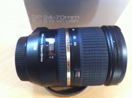 Zoom-Objektiv Tamron 24-70mm 2.8 mit Bildstabilisator für Canon