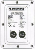 Foto 2 Zwei OMNITRONIC DX-2522 3-Wege Boxen a 1200 W