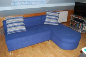 Zwei Sofas in Blau