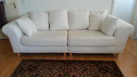 Zwei edle Sofas - Weiß