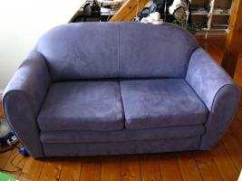 Zweisitzer Couch -hellblau