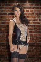 aVanua - Corset schwarz-leopard Gr. S/M - OVP - NEU