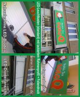 Foto 9 ab 16 €/m² Werbebanner Werbeplane Planendruck Bannerdruck Foliendruck Partybanner PVC Banner LKW Plane Großformatdruck Megaposter Folienplott Folienbeschriftungen Beschriftungen Leuchtwerbung Leuchtreklame Berlin Werbung