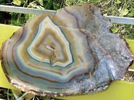 Foto 2 achatkeil  edelstein  23cm breit