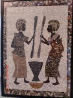 afrikanisches bild hergestellt aus schmetterlings fl�gel