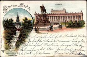 Foto 2 alte Ansichtskarten und Postkarten, alte Bilder Berlin-Mitte