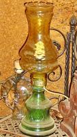 Foto 4 alte glaslampe bernsteinfarben