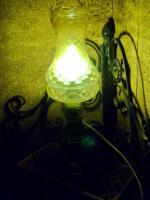 Foto 7 alte glaslampe bernsteinfarben