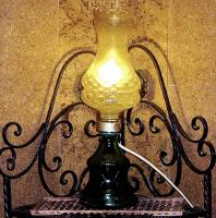Foto 2 alte glaslampe bernsteinfarben