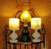 Foto 6 alte glaslampe bernsteinfarben