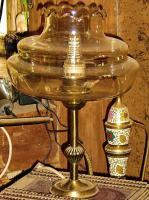 Foto 2 alte lampe bernsteinfarben