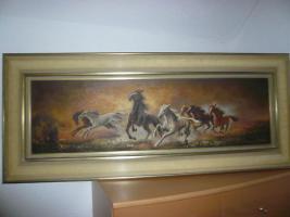 altes Gemälde, Öl auf Leinen , signiert Koller