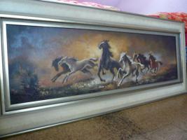 Foto 3 altes Gemälde, Öl auf Leinen , signiert Koller