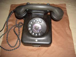 altes nostalgie bakelit telefon wählscheibe Schwarz..